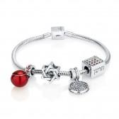 'GraceLet - BraceLet' Biblical Elements - Hoshen - Shema Yisrael - Star of David & Pomegranate