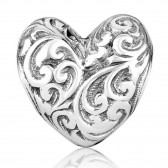'GraceLet Bracelet' - Silver Blooming Heart by Marina