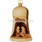 Christmas Tree Olive Wood Decoration - Bell