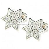 Star of David Zircon Stud earrings