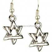 Star of David Intertwined Earrings