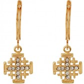 Goldfill 'Jerusalem Cross' Earrings with Zircon