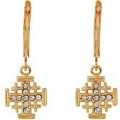 Goldfill 'Jerusalem Cross' Earrings with Zircon