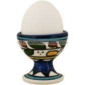 Ceramic Egg Cup - Colored Leaves