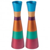 Yair Emanuel Modern Anodized Aluminum Candlesticks - Multi-Color (Large)