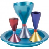Yair Emanuel Havdalah Set from Anodized Aluminum with 4 Color Options