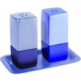Yair Emanuel | Salt & Pepper Shakers | Anodized Aluminum | Two Tone Blue