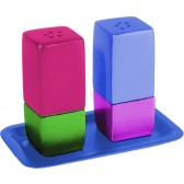 Yair Emanuel | Salt & Pepper Shakers | Anodized Aluminum | Multi-Color