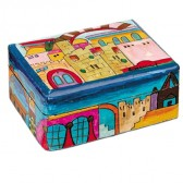 Yair Emanuel Hand-Painted Jewelry Box - Jerusalem (small)