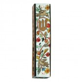 Yair Emanuel | Large Hand-painted Wooden Mezuzah | Birds and Flowers