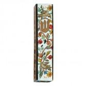 Yair Emanuel | Large Hand-painted Wooden Mezuzah | Birds and Flowers