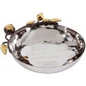 Yair Emanuel - Pomegranate Stainless Steel & Copper Oval Bowl