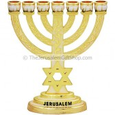 Star of David Enameled Menorah