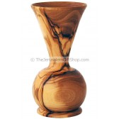 Flower Vase - Olive Wood - short