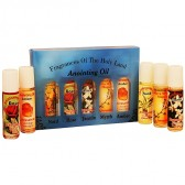 Fragrances of the Holy Land Anointing Oil Set - 20ml Roll-On - 5 Anointing Prayer Oils from Bethlehem - Blue Pack