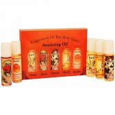 Fragrances of the Holy Land Anointing Oil Set - 20ml Roll-On - 5 Anointing Prayer Oils from Bethlehem - Orange Pack