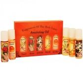Fragrances of the Holy Land Anointing Oil Set - 20ml Roll-On - 5 Anointing Prayer Oils from Bethlehem - Orange Pack