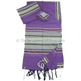 Gabrieli Cotton Tallit - Purple