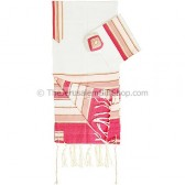 Ladies Silk Tallit - Pink Prayer Shawl