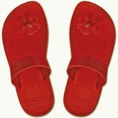 Leather Jesus Sandals - Galilee Lady - Colored