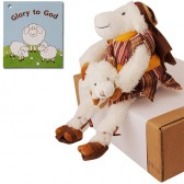 Biblical Dress 'Glory to God' Sheep with Lamb Stuffed Fun Toy