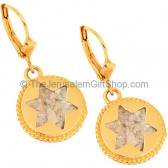 14 Carat Gold Roman Glass 'Star of David' Earrings