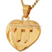 Goldfill Chai 'Life' Heart Pendant by 'Marina'