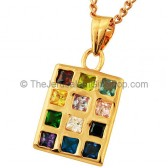 Gold Fill Hoshen Pendant - rectangle