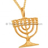 GoldFill-'Menorah'-Pendant - by Marina