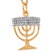 Gold Fill Menorah Pendant by Marina - Two Tone