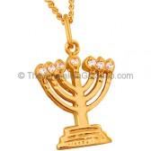 GoldFill 'Menorah' with Zircon Pendant by Marina
