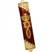 'Grafted In' Decorated with CZ Stones Mezuzah