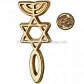 Lapel Pin - Messianic Seal of Jerusalem