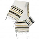 'Grafted In' Messianic Prayer Shawl Tallit - Black and Gold