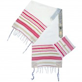 'Grafted In' Messianic Prayer Shawl Tallit - Ladies Pink