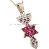 'Grafted In' Pendant with Shades of Pink Zircon from Star