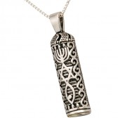'Grafted In' - Mezuzah 'Shema Yisrael' 925 Sterling Silver Pendant