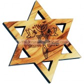 Star of David Grafted In Fridge Magnet
