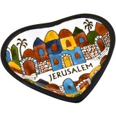 Armenian Ceramic Heart 'Jerusalem' Dish