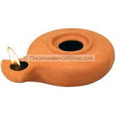 Clay Oil Lamp - Herodian Jerusalem Style