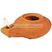 Clay Oil Lamp - Herodian - replica