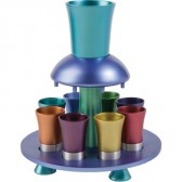 Holy Land Harvesters - The Lord's Supper Fountain Set - Anodized Aluminum - Rainbow