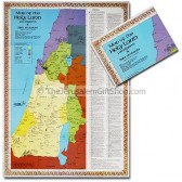 Map of the Holy Land for Pilgrims and Bible Students