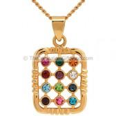 Hoshen pendant - Gold Fill