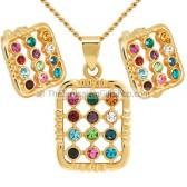 Hoshen Pendant Earring Set - Goldfill