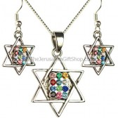 Hoshen - Star of David Pendant Earring set