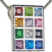 Hoshen pendant - sterling silver