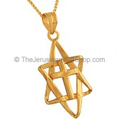 Cross inside Interwoven Star of David by 'Marina'