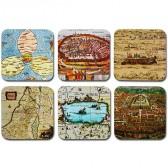 Ancient Israel Maps Coaster Set