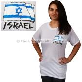 Israeli Flag Tshirt - small print